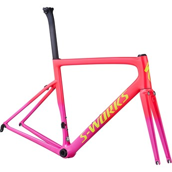 Specialized Tarmac SL6 S-Works Frameset Gloss Acid Pink/Acid Purple/Team Yellow/Gravity Fade/Clean 2019