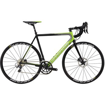 Cannondale SuperSix EVO Hi-Mod Disc Ultegra Berserker Green with Jet Black and Chrome, Gloss