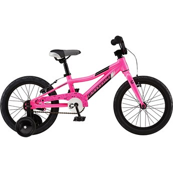 Cannondale Trail 16 Single-Speed Girls Acid Pink with Super Sparkle Silver and Jet Black, Gloss