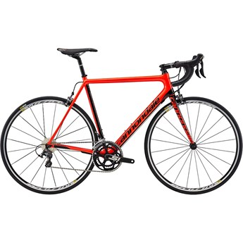 Cannondale SuperSix EVO Carbon Ultegra Acid Red with Jet Black, Gloss