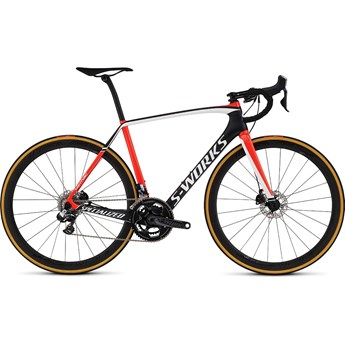 Specialized S-Works Tarmac Disc Di2 Satin Carbon/Gloss Rocket Red/White