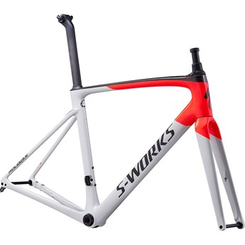 Specialized Roubaix S-Works Frameset Gloss/Satin/Dove Gray/Rocket Red/Back