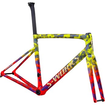 Specialized Tarmac SL6 S-Works Disc Frameset Gloss Team Yellow/Rocket Red/Tarmac Black/Chameleon/Gold Foil 2020
