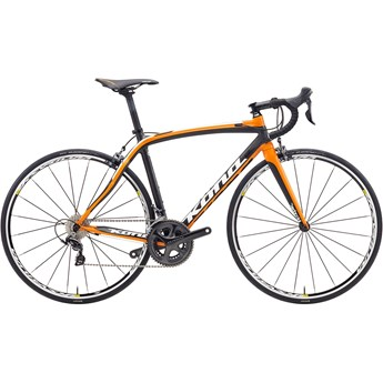 Kona Zing Supreme White/Black/Orange On Matt Carbon/Orange
