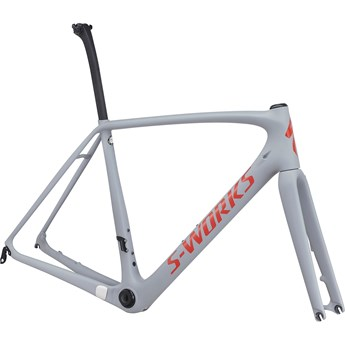 Specialized S-Works Tarmac Disc Rampaket (Frameset) Satin Cool Gray/Gloss Nordic Red