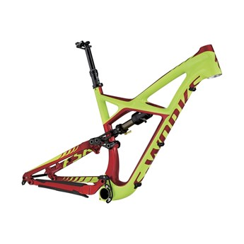 Specialized S-Works Enduro FSR Carbon 29 Frame (Bara ram) Hyper Green/Candy Red