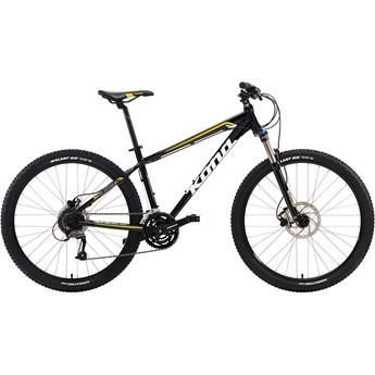 Kona Fire Mountain Gloss Black with White and Yellow Decals