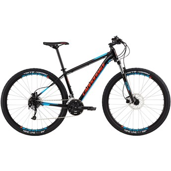 Cannondale Trail 5 Jet Black with Acid Red and Trail Blue, Gloss