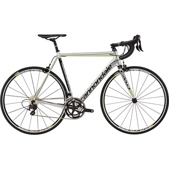 Cannondale CAAD12 105 Fine Silver with Jet Black and Berzerker Green, Gloss