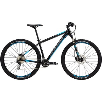 Cannondale Trail 3 Jet Black with Charcoal Gray and Trail Blue, Gloss