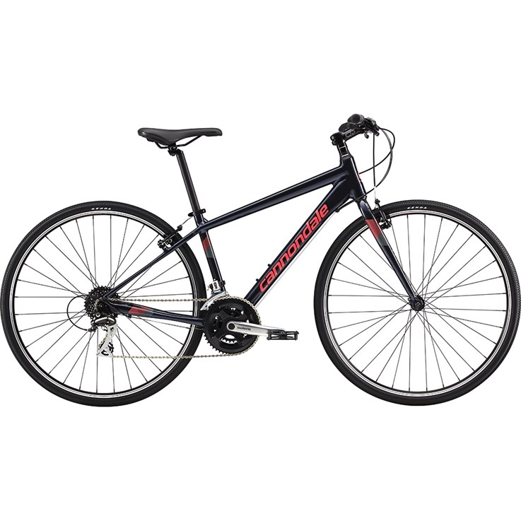Cannondale Quick Womens 7 Midnight with Acid Strawberry, Stealth Grey, Reflective Detail, Gloss