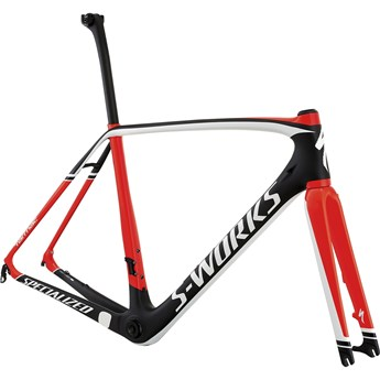 Specialized S-Works Tarmac Disc Frameset Satin Carbon/Gloss Rocket Red/White