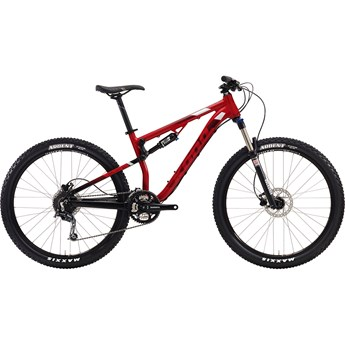 Kona Precept 120 Matt Dark Red and Black with Black and Silver Decals