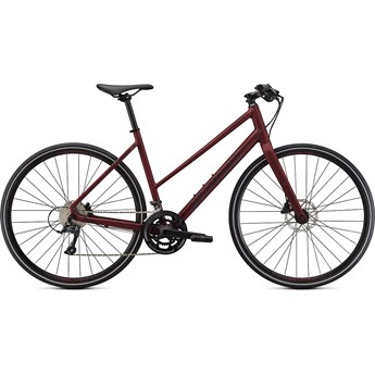 Specialized Sirrus 3.0 Step-Through Satin Maroon/Gloss Maroon/Satin Black Reflective 2021