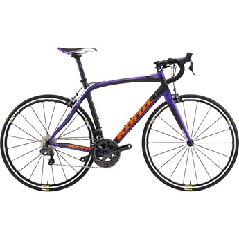 Kona Zing Carbon Matt Carbon with Team Orange, Purple and White Decals