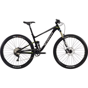 Kona Hei Hei Deluxe Trail Matt Black with Silver and Lime Decals