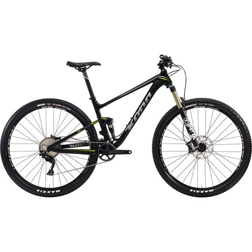 Kona Hei Hei Deluxe Trail Matt Black with Silver and Lime Decals 2016