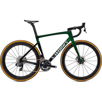 Specialized Tarmac SL7 S-Works eTAP Green Tint Fade Over Spectraflair/Chrome 2021