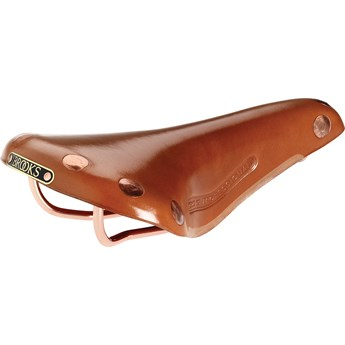 Brooks Sadel I Läder Team Pro Honey Copper Rails