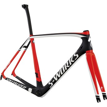 Specialized S-Works Tarmac Frameset Satin Carbon/Gloss Rocket Red/White
