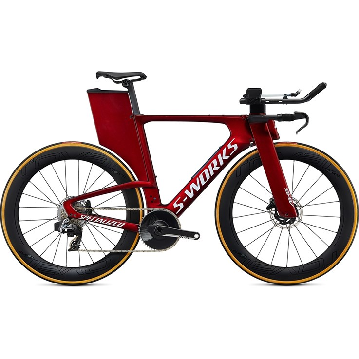Specialized Shiv S-Works Disc Etap Gloss Metallic Crimson/Chrome/Clean