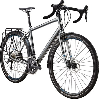 Cannondale Touring Ultimate Charcoal Grey with Primer and Blue Collar, Matte