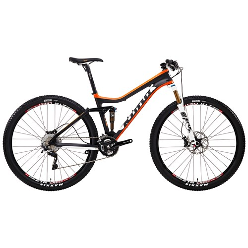 Kona Hei Hei Supreme Matt Unidirectional Carbon with Orange, White and Black