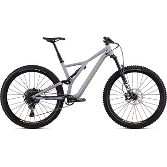 Specialized Stumpjumper FSR Men Comp 29 12 SPD Satin Cool Grey/Team Yellow 2019