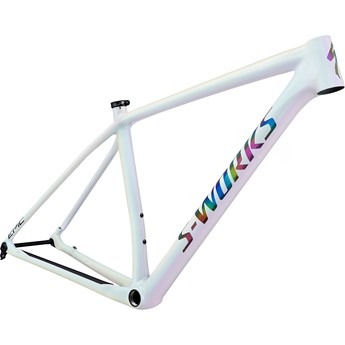 Specialized Epic Hardtail S-Works Carbon 29 Frame Gloss White Prismaflair/Black Holographic Reflective