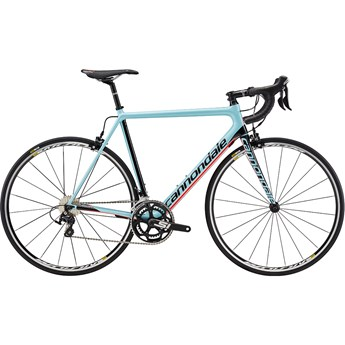 Cannondale SuperSix EVO Carbon 105 Atmosphere Blue with Jet Black and Acid Red, Gloss