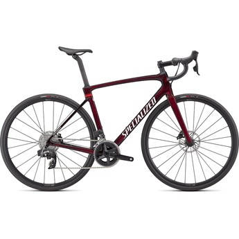 Specialized Roubaix Comp Gloss Red Tint Carbon Metallic White Silver 2022