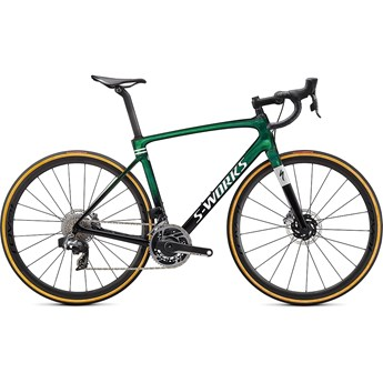 Specialized Roubaix S-Works eTAP Gloss Green Tint/Spectraflair/Satin Flake Silver 2021
