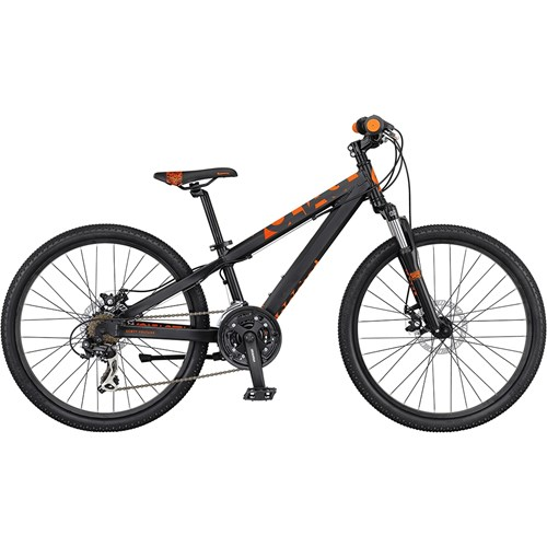 Scott Voltage JR 24 Disc med Skivbromsar Mönstrad Orange på Svart 2016