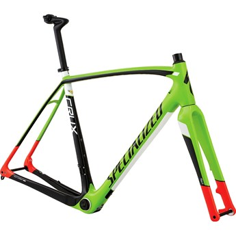 Specialized Crux Pro Disc Frame Gloss Monster Green/Rocket Red/Tarmac Black/White