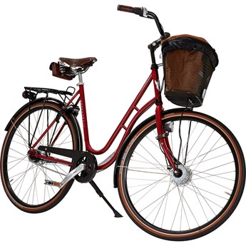 Skeppshult Natur Premium 7 Växlar Damcykel Röd Höst