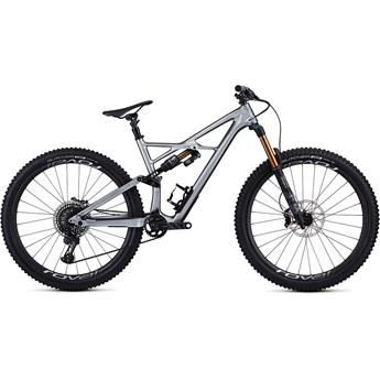 Specialized Enduro FSR S-Works Carbon 29 6Fattie Gloss Flake Silver Form Fade/Tarmac Black 2019