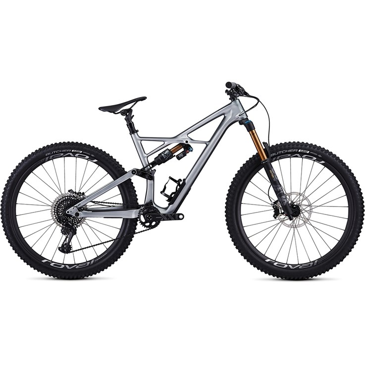 Specialized Enduro FSR S-Works Carbon 29 6Fattie Gloss Flake Silver Form Fade/Tarmac Black
