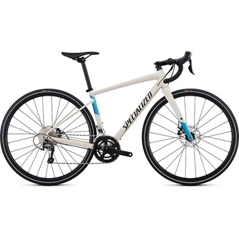 Specialized Diverge Womens E5 Elite Satin White Mountains/Tropical Teal-Nice Blue/Black 2019