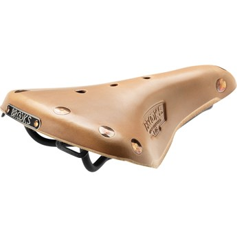 Brooks Sadel I Läder B17S Select Natural Dam