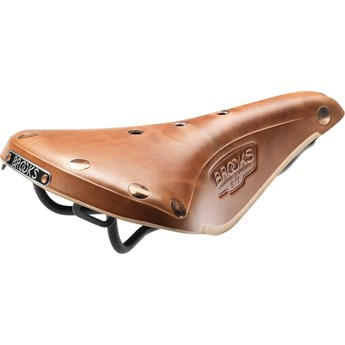Brooks Sadel I Läder B17 Select Natural Herr