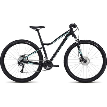 Specialized Jett Sport 29 Satin Tarmac Black/Light Turquoise/Metallic White Silver