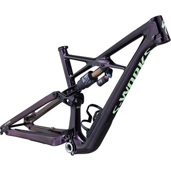Specialized Enduro FSR S-Works Carbon 29 6Fattie Frame Gloss Sunset/Acid Kiwi 2019