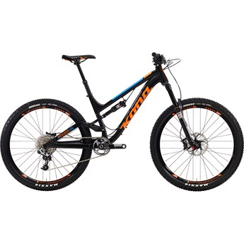 Kona Process 134 Supreme Matt Black with Gloss Orange and Blue Decals