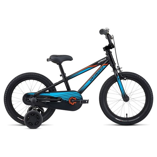 Specialized Hotrock 16 Coaster Boys Black/Cyan/Neon Orange 2016