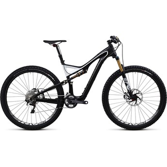 Specialized S-Works Stumpjumper FSR Kolfiber 29 Materialfärg/Svart/Vit