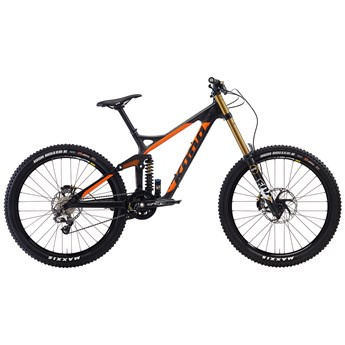 Kona Supreme Operator Matt Unidirectional Carbon and Orange with Matt Black Stays