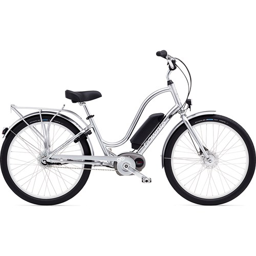 Electra Townie Go! 8i Bosch Polished Silver Damcykel 2016