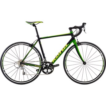 Kona Zing AL Matt Black with Lime and Dark Lime Decals