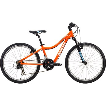 Kona Hula Matt Orange with White and Cyan Decals