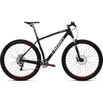 Specialized S-Works Stumpjumper Hardtail Kolfiber 29 Materialfärg/Röd/Vit